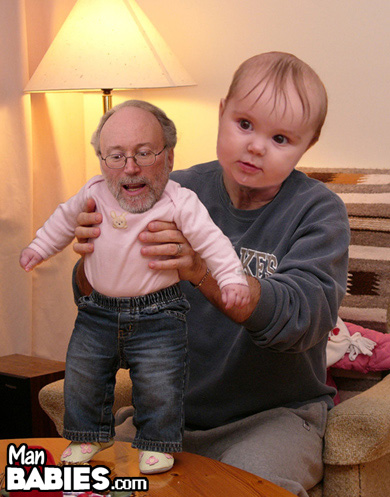 Man Babies is a bizarre blog that collects photos where