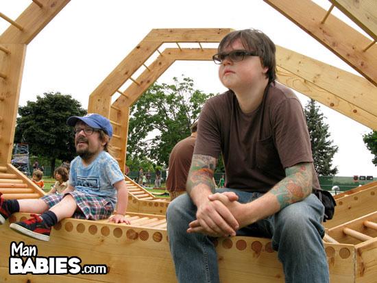 Hangin at the playground